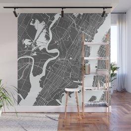 Jersey City USA Modern Map Art Print Wall Mural