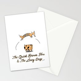 Quick brow fox Stationery Cards