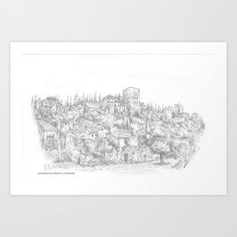 Alhambra de Granada Art Print