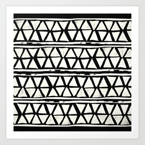 Tribal Geometric Band Art Print