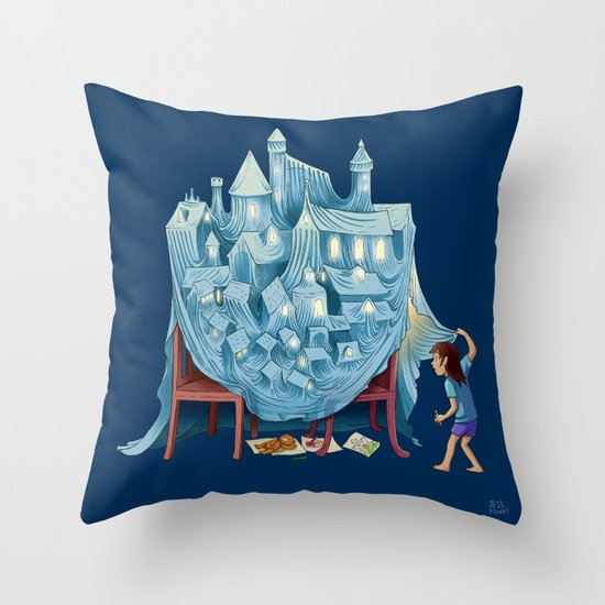 The Perfect Chair Fort Throw Pillow