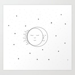 The Moon and Sun are One Art Print