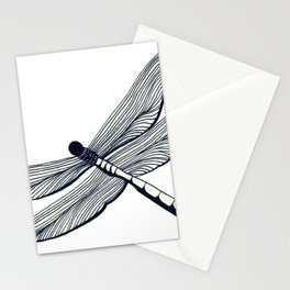 Line art-work dragonfly Stationery Cards