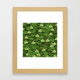 Handy Camo GREEN Framed Art Print