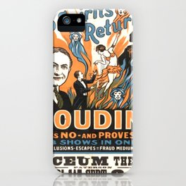Houdini Vintage - Do Spirits Return? iPhone Case