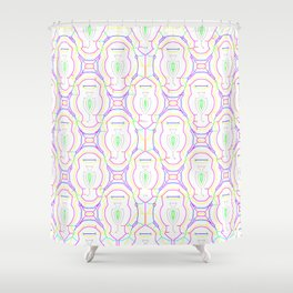 2307 Outlined pattern light ... Shower Curtain