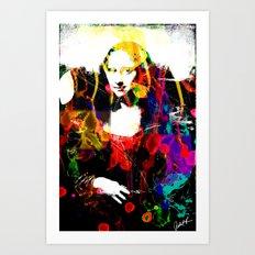 Mona Lisa Watercolor Large Pop Art Painting Modern Abstract Art Print