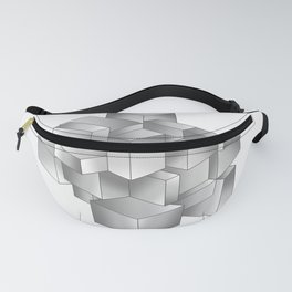 Silver moon cube Fanny Pack