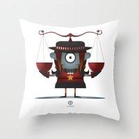 libra Throw Pillows featuring LIBRA by Angelo Cerantola