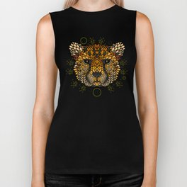 Cheetah Face Biker Tank