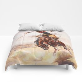 A Bad Hoss Charles Marion Russell Comforters