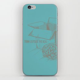 Think Outside The Box iPhone Skin