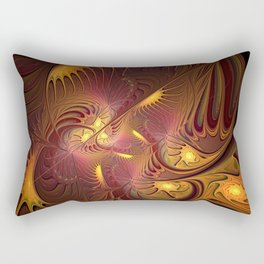 Coming Home, Abstract Fantasy Fractal Art Rectangular Pillow