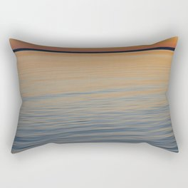 Before sunrise over the lake Rectangular Pillow