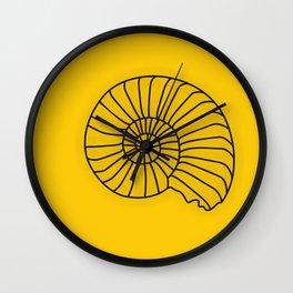 Orange Seashell Art Print Home Decor Sea Theme Shell Print Wall Clock