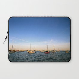 Lake Michigan Sailboats Laptop Sleeve
