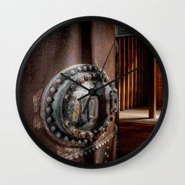 Industrial halt Wall Clock