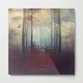Threshold of a Dream - Surreal Forest Scenery Metal Print