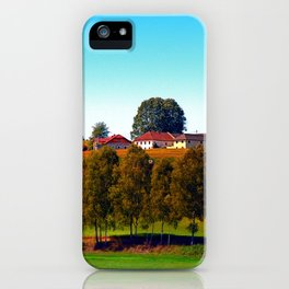 Guardian trees in front of a farm iPhone Case