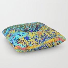 Turquoise Fizz Floor Pillow