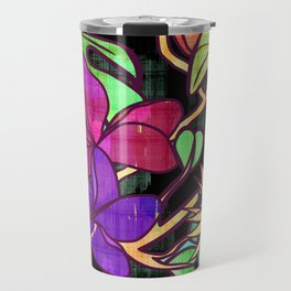 Tropical leaves and flowers, jungle print Travel Mug