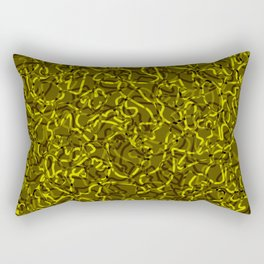 Chaotic bright tangled ropes and yellow dark lines. Rectangular Pillow