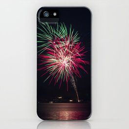Fireworks Over Lake 20 iPhone Case
