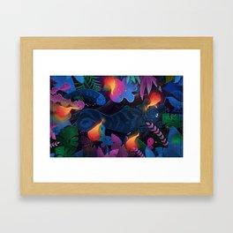 Tiger in a jungle Framed Art Print