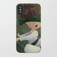 ninja iPhone & iPod Cases featuring Ninja by Miuska
