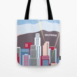 Los Angeles, California - Skyline Illustration by Loose Petals Tote Bag