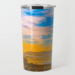 Traffic Jam At Sunset Travel Mug