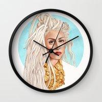 versace Wall Clocks featuring Versace Venus by Helen Green