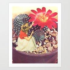 Cactus Fairy Art Print