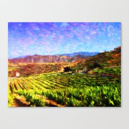 Vineyard View - Help Fund Education for Impoverished Kids in Malawi, Africa @MoreThanAid Canvas Print