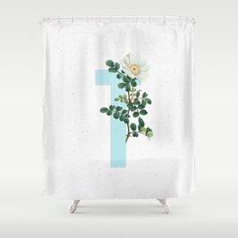 Letter 'T' Monogram Shower Curtain