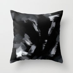 BLOSSOMS - BLACK Throw Pillow