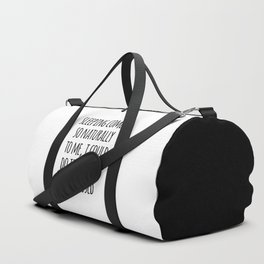 Sleeping Comes Naturally Funny Quote Duffle Bag