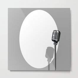 Musical Event Microphone Poster Metal Print