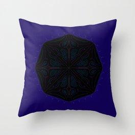 Luxury ornaments blackblue Throw Pillow