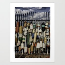 Buoy Collage  Art Print