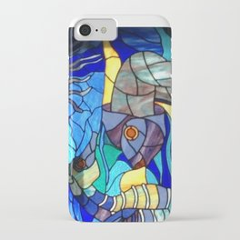 Stained Glass Fish, Cuba iPhone Case