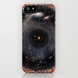 Observable universe logarithmic illustration iPhone Case
