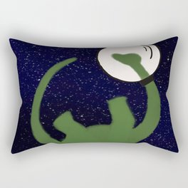 Dave the Dinosaur in Space Rectangular Pillow