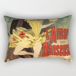 L Amant Des Danseuses Roman Moderniste Par F Licien Champsaur 1888 By Jules Cheret | Reproduction Ar Rectangular Pillow