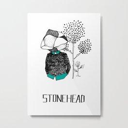 StoneHead Metal Print