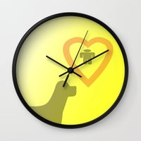 best friend Wall Clocks featuring best friend by sladja