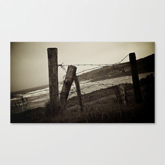 Fences and Defences. Canvas Print