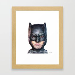 Bat Bobble Framed Art Print