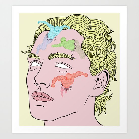The Complexities of Having a Swimming Pool Face Art Print