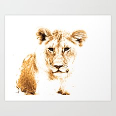 Animals Of The Rainbow Lion Art Print